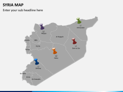 Syria map PPT slide 4