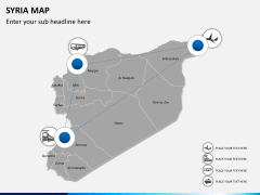 Syria map PPT slide 6