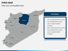 Syria map PPT slide 7