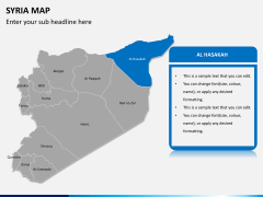 Syria map PPT slide 8