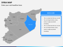 Syria map PPT slide 9