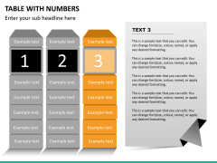 Table with numbers PPT slide 12