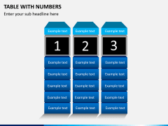 Table with numbers PPT slide 1