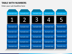 Table with numbers PPT slide 3