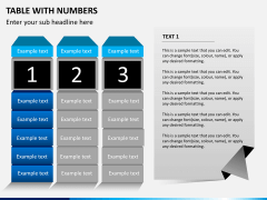 Table with numbers PPT slide 4