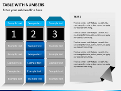 Table with numbers PPT slide 5