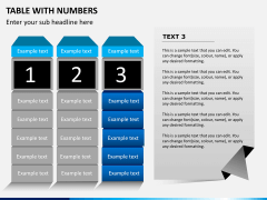 Table with numbers PPT slide 6