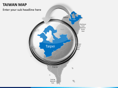Taiwan map PPT slide 14