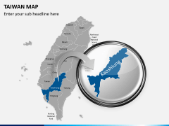 Taiwan map PPT slide 15