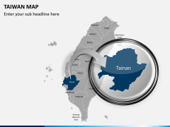 Taiwan map PPT slide 16