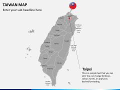 Taiwan map PPT slide 20