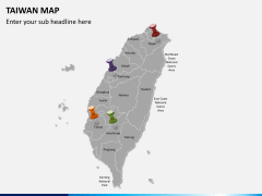 Taiwan map PPT slide 3