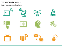Technology icons PPT slide 9