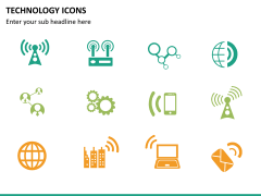 Technology icons PPT slide 15