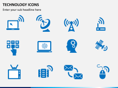 Technology icons PPT slide 1