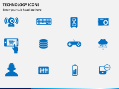 Technology icons PPT slide 2