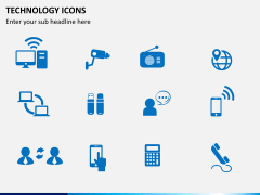 Technology icons PPT slide 3