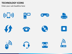 Technology icons PPT slide 4