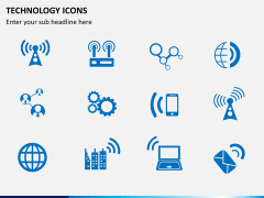 Technology icons PPT slide 7