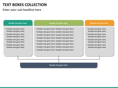 Text boxes bundle PPT slide 100