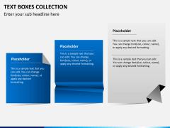 Text boxes bundle PPT slide 1