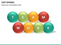 Text spheres PPT slide 10