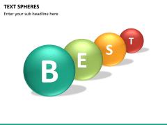 Text spheres PPT slide 11