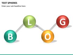 Text spheres PPT slide 13