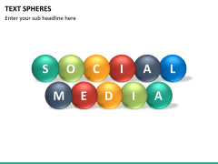 Text spheres PPT slide 15