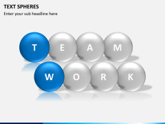 Text spheres PPT slide 2