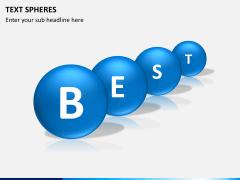 Text spheres PPT slide 3