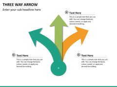 Three Way Arrow PPT slide 7