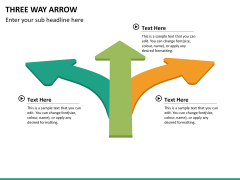 Three Way Arrow PPT slide 8