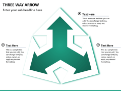 Three Way Arrow PPT slide 9