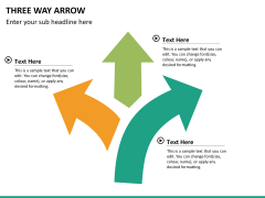 Three Way Arrow PPT slide 10