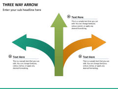 Three Way Arrow PPT slide 11