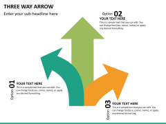 Three Way Arrow PPT slide 12