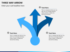 Three Way Arrow PPT slide 1