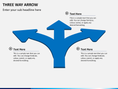 Three Way Arrow PPT slide 2