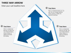 Three Way Arrow PPT slide 3