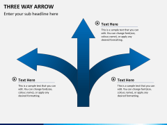 Three Way Arrow PPT slide 5