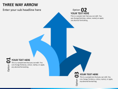Three Way Arrow PPT slide 6
