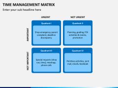 Time management matrix PPT slide 5