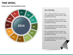 Time wheel PPT slide 14
