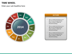 Time wheel PPT slide 20