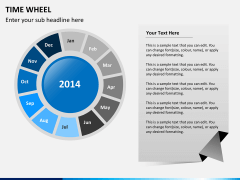 Time wheel PPT slide 1