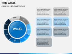 Time wheel PPT slide 13