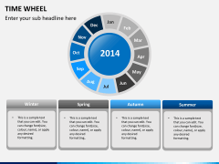 Time wheel PPT slide 4