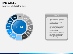Time wheel PPT slide 5