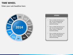 Time wheel PPT slide 6